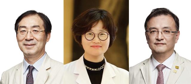 왼쪽부터 가톨릭대학교 의과대학 류마티스연구센터 박성환,조미라 교수와 서울성모병원 신장내과 양철우 교수.