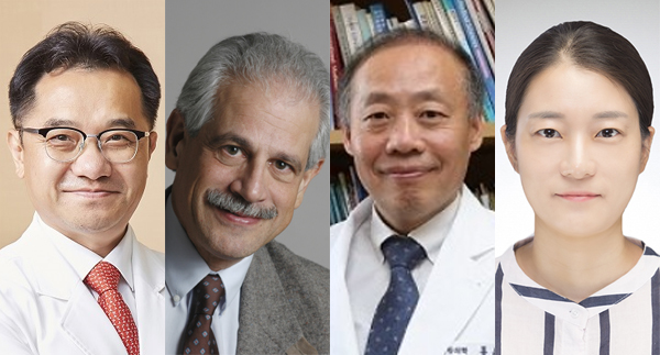From left: Corresponding author Seung-kwon Myung, Professor of National Cancer Center, co-first author Dr. Joel Moskowitz, co-author Hong Yun-cheol, Seoul Medical University professor, and first author Choi Yoon-jung, Ph.